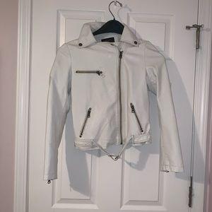 TCEC White faux leather jacket- SZ S